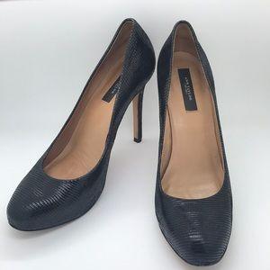 Ann Taylor Black Heel Pump Leather Size 8 US